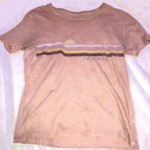 Soft Pink Billabong Tee Plain Juniors